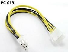 "12"" 8-Pin 2x2 ATX Power Supply Male to Female Extension Cable /  Cord,  PC-019"