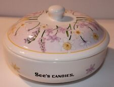 Sees Candies Ceramic Floral Candy Dish