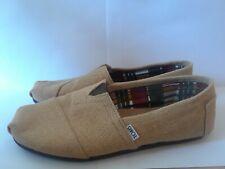 Mens Burlap TOM'S Shoes Size 11 Beige
