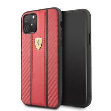 Ferrari Duro Funda De IPHONE 11 Pro Carbono PU Rojo 360 Grados Protección