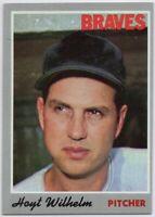 1970 Topps #17 Hoyt Wilhelm EX-EXMINT+ Atlanta Braves FREE SHIPPING