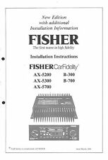 Fisher manual de instalación para b-300-700 ax-5200-5300-5700 Service