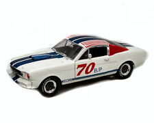 FORD MUSTANG GT350R #70 1966 SHELBY COLLECTIBLES 1/18 WHITE BLUE RED