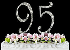 NEW Large Rhinestone  NUMBER (95) Cake Topper 95th Birthday Party Anniversary