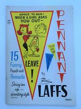 "Hal Sherman  15 Funny Punch-Out ""Pennant Laffs"" 1962 Saalfield [unused]"