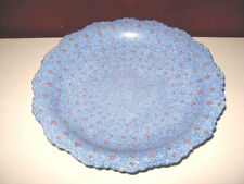 Large footed blue minakari mina kari miniature wall decor persian enamel bowl