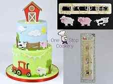FMM Sugarcraft Cute FARM ANIMAL Tappit Cutter Set Cake Decorating