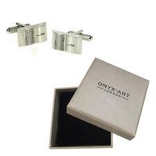 Mens Book Novel Writers Cufflinks & Gift Box By Onyx Art