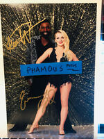 "Dancing with the Stars Evanna Lynch & Keo Motsepe autographed 8""X12"" season 27"