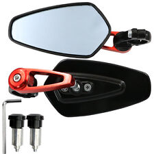 Motorcycle/Electric bike/ATV Modified Bar End Rearview Mirrors-1 Pair Red