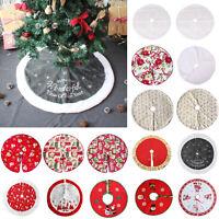 78/90/120cm Plush Base Floor Mat Cover Decor White Snow Christmas Tree Skirt LOT