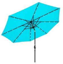 Outdoor 10ft Solar LED Lighted Patio Umbrella W/Tilt Adjustment, Fade-Resistance