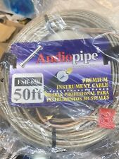 Audiopipe FSB-65 1/4 TO DUAL banana 50 FT foot PA DJ SPEAKER CABLE