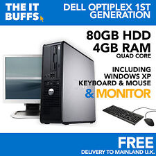 DELL OPTIPLEX Quad Core 4Gb 80Gb HDD WINDOWS XP - FISSO PC COMPUTER Set