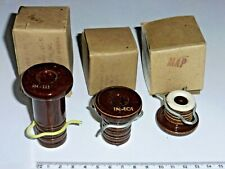 lot 3 isolateurs IN101, IN111, IN121 US NOS montage radio militaire Signal-Corps