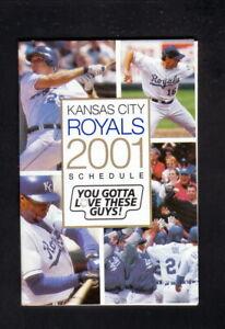 Kansas City Royals--2001 Pocket Schedule--Adam's Mark--Randa/Sweeney/Dye