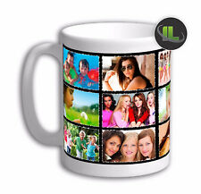 Personalised Photo Collage Mug cup, Customised with you 15 own Photos. IL2132BL