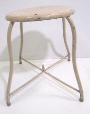 Vintage Heavy Industrial Hospital Medical Metal Stool Chair Vanity Desk Dentist