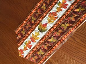 Handcrafted - Quilted Table Runner -You Finish -Includes BINDING - Autumn Colors