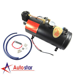 New Air Compressor for Train Horn 12 Volt Max 150 PSI with Pressure Switch