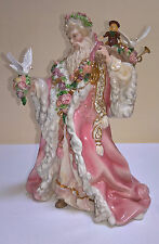 Victorian Father Christmas Porcelain Sculpture by Alejandro Lemus with Box & CoA
