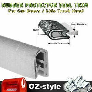 Rubber Trim Car Edge Seal Guard Strip With Internal Metal Clip Stays On Tight 5M