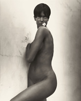 Herb Ritts 11x14 Steph Top Model Portrait Stamped Matted Editorial Archive Photo