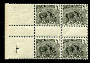 FRENCH GUIANA  SCOTT# 51 MNH (BLOCK/4)  GREAT ANTEATER
