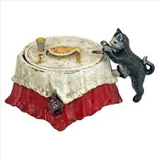 SP2147 - Fish For Cat Die-Cast Iron Mechanical Coin Bank