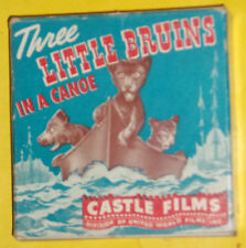 Three Little Bruins In A Canoe 1940s 16 mm Headline Edition Movie 4 Inch SEE!