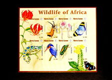 Sierra Leone  Scarce IMPERF MNH Sheet- Wildlife, Butterflies, Flowers, Insects