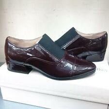 Clarks Narrative Ray Chic Oxford Brogues Burgundy Patent UpperLeather