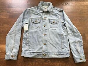 NWT American Apparel Denim Jean Jacket Medium Light Blue Wash New