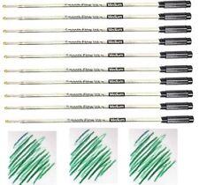 10 Cross Style Ballpoint Pen Refills, GREEN INK, Medium Point, Smooth Flow Ink