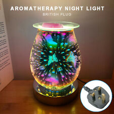 NEW 3D Glass Electric Firework Oil Wax Melt Burner Fragrance Aroma Touch Lamp