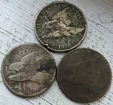 (3) Flying Eagle Low Grade Coins