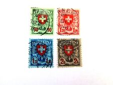 Switzerland #200a - 203a, Coat of Arms, Set of 4,1933, Used/Fine