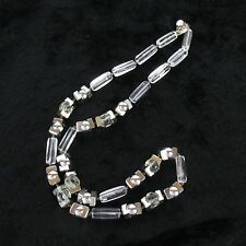 Vtg Signed Miriam Haskell Clear Orb Mod Lucite Necklace Silver Necklace
