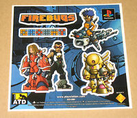 Firebugs PS very rare promo Sticker 11.5x11.5cm