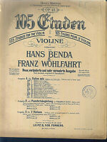 Hand Benda & Franz Wohlfahrt : 105 Etüden für Violine Heft 4