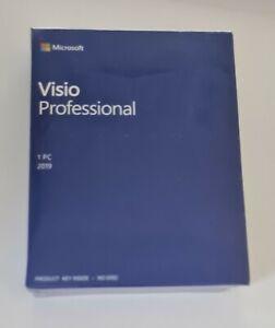 Microsoft Visio Professional 2019 for Windows 10 - Boxed - 100% Genuine