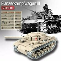 Lego ww2 Tank Panzer III Allemand Véhicule Militaire Jouet Construction char