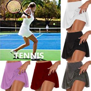 Womens Tennis Skirt Active Skorts High Waist Yoga Shorts Mini Dress US INSTINNCT