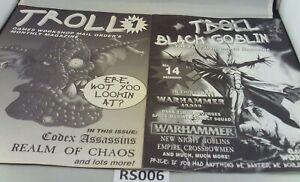 GW Troll Mail Order Mag Issue #1 & Issue #14 (Black Goblin XMas Issue '98) RS006
