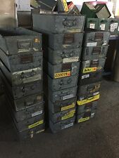 GALVANISED TOTE PANS , METAL STORAGE BINS / TRAYS 59x30x15cm high