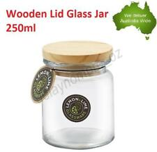 250ml Wooden Lid Glass Jar Christening Favour Candle Wedding Party jars Storage