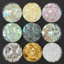 Round Sequins/Flat Loose 1000 x 6 mm, 11 colours. Fashion/Costume/Crafts/Sewing.