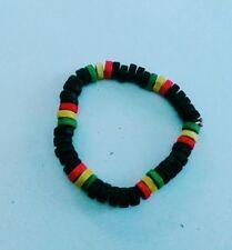 Handmade Rastafarian Reggae wood beads Bangle/Bracelet Jewelry -  multicolored