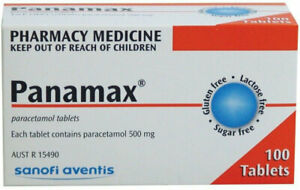 Panamax 500mg 100 Tablets -  Fever & Pain Relief - Panadol 500mg generic