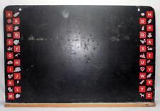 "Vintage Childs Abcs Chalkboard Blackboard w/ Chalk Tray - Wall Hanging 36"" x 24"""